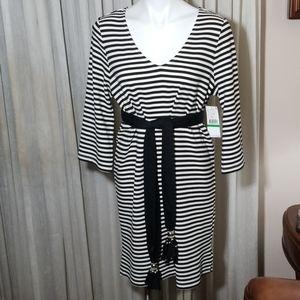 Karen Kane Black & White Striped Dress